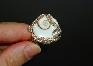"Ring ""Arcadia"" shell and Sterling Silver"