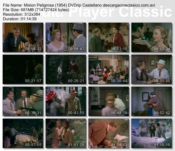 Captura film Dangerous Mision / RKO Radio Pictures (1954)
