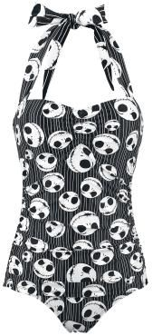 Pinstripe Swimsuit - Swimsuit by The Nightmare Before Christmas