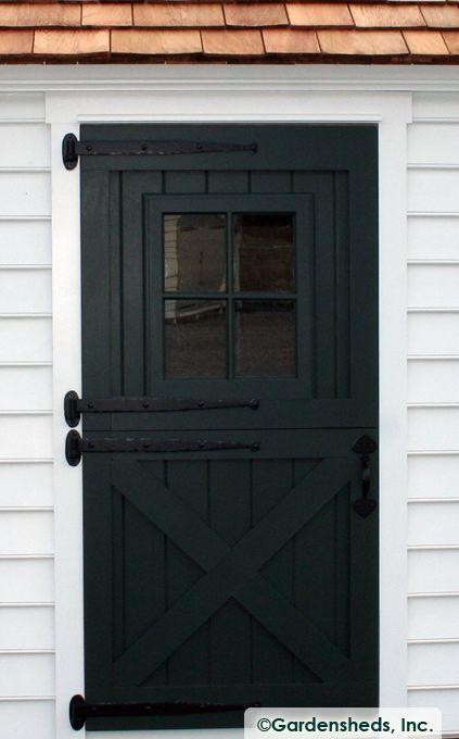DUTCH DOOR : Black : Dutch Door Hardware : Crossbuck Door : Barn Door With Window