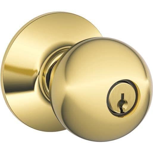 Schlage Lock Pb Orbt Entry Knob Bx F51AORB605 Unit: Each