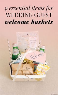 Destination Wedding Gift Baskets Guests : ideas about Guest Welcome Baskets on Pinterest Guest Basket, Guest ...