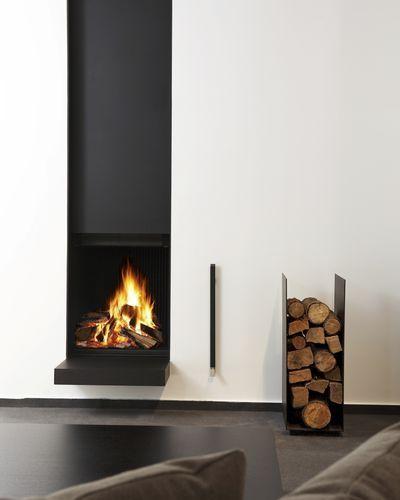 Camino a legna / moderno / design originale / con focolare aperto Ultime D MF 600-75 WHE 1S Metalfire