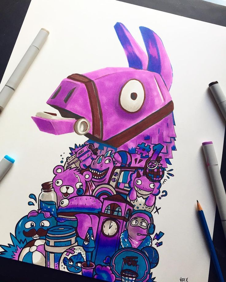 I made some Fortnite art last week 😎 This was a…