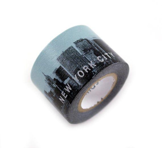 MASTE NYC blue skyline masking tape  new york by kawaiigoodies