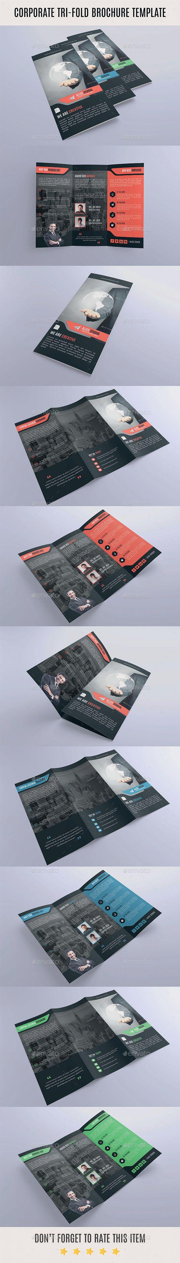 Corporate Tri-Fold Brochure Template Vector EPS, AI #design Download: http://graphicriver.net/item/corporate-trifold-brochure-template/14165362?ref=ksioks
