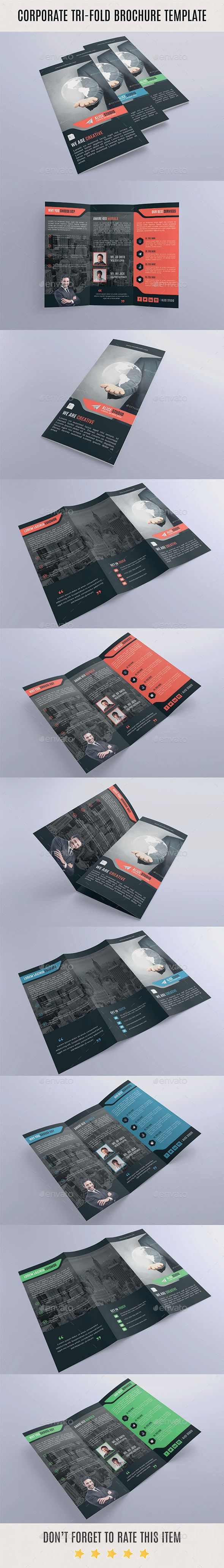 Corporate Tri-Fold Brochure Template Vector EPS, AI #design Download: http://graphicriver.net/item/corporate-trifold-brochure-template/14165362?ref=ksioks