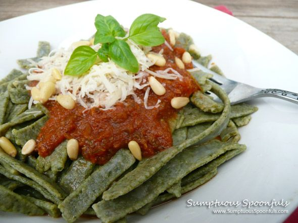 » Homemade Spinach Whole Wheat Noodles Sumptuous Spoonfuls