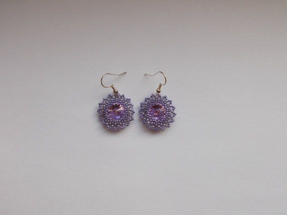 Check out this item in my Etsy shop https://www.etsy.com/listing/494413576/violet-swarovski-earrings