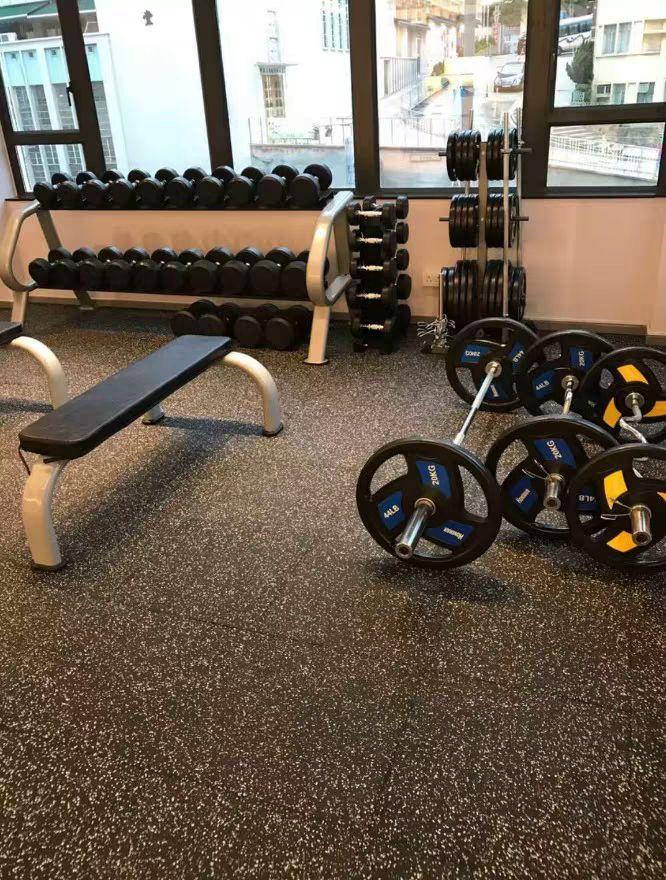 Composite rubber flooring mat for gym Tel 0086571