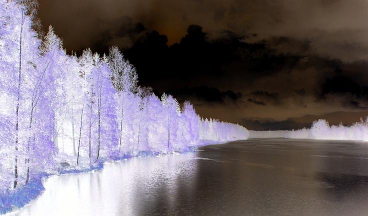 Invert photo of Finland Lake