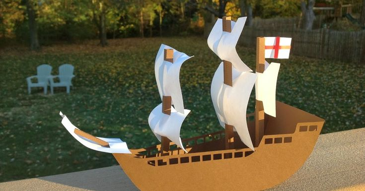 Using the same body from my Columbus ship,  I recreated a model of the Mayflower.  The Mayflower is flying the St. George's Cross. St. Georg...