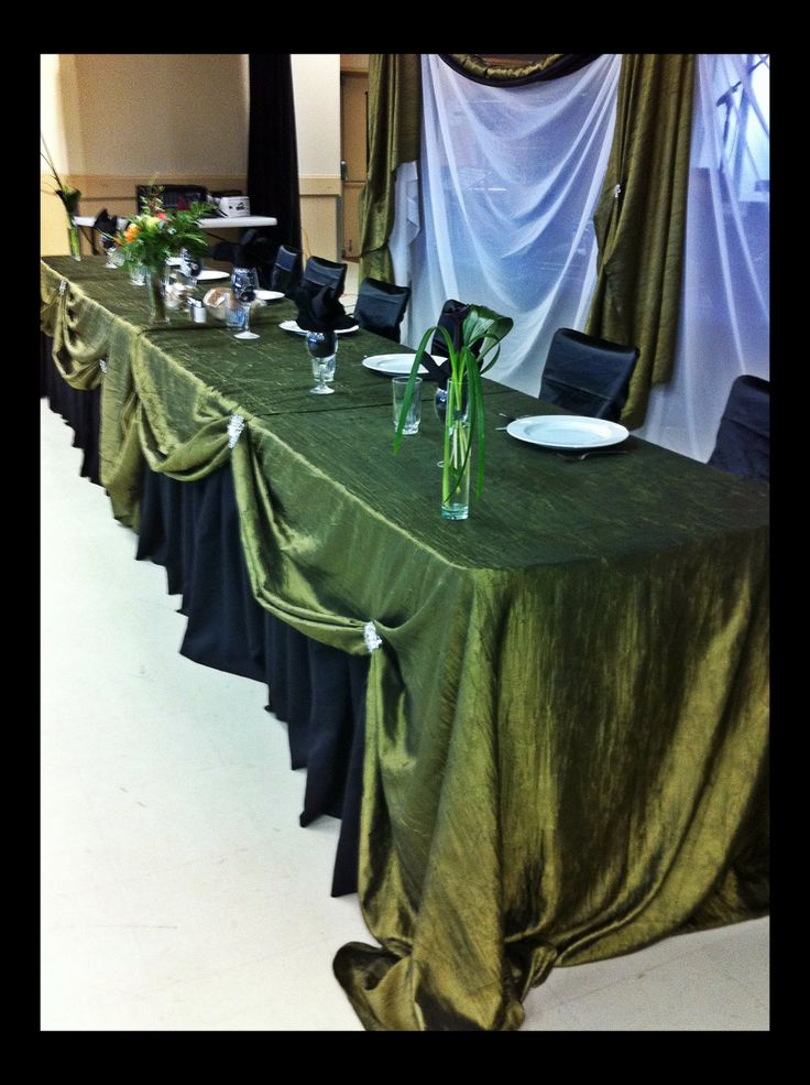 Head table willow green