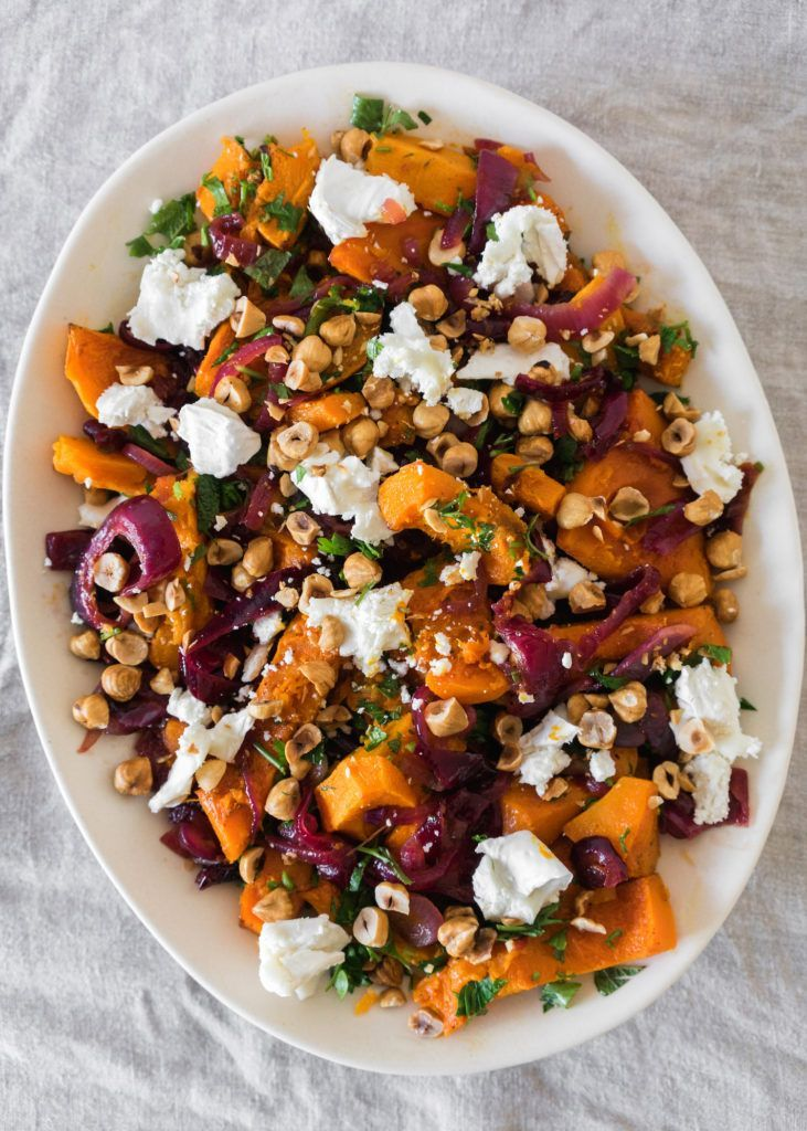 Roasted Butternut Squash with Spicy Onions