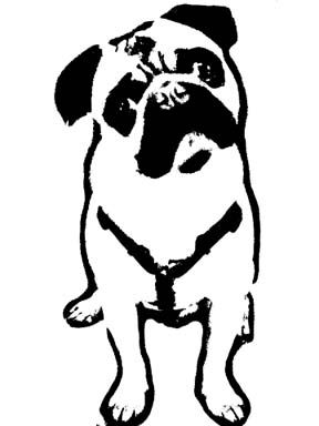 pug face stencil google search dod pinterest pug