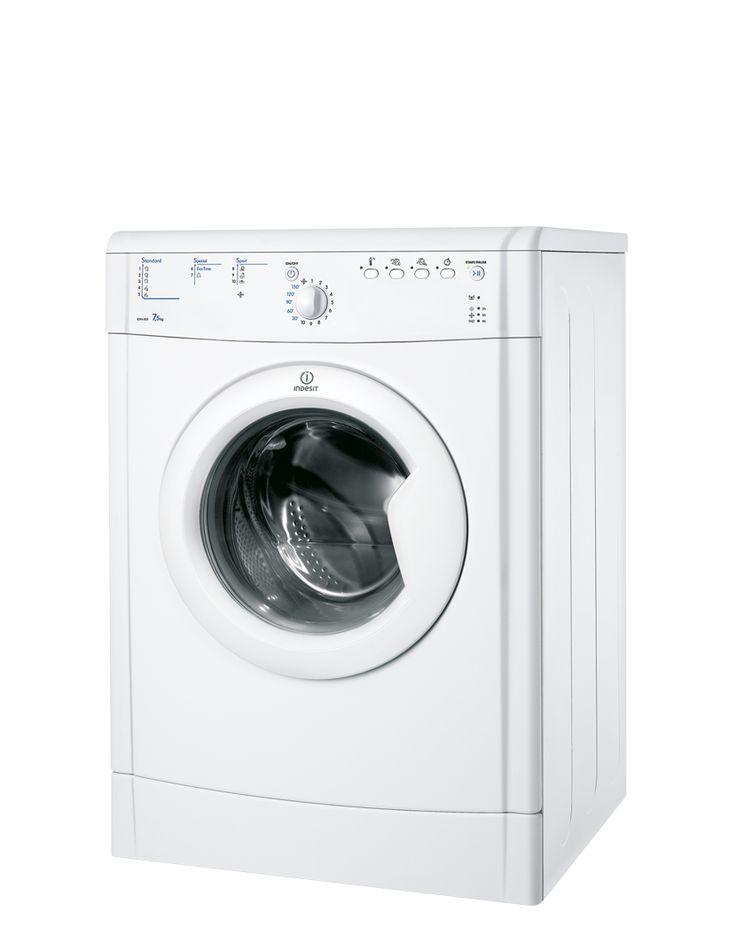 Secadora Eco Time - IDVA 835 (EU) - Deje que su lavadora-secadora o secadora Indesit acabe con la incertidumbre. Un sensor automático en el tambor controla los niveles de humedad y detiene el tambor cuando sus prendas están perfectamente secas, garantizándole que quedan como nuevas. Elija una máquina con sistema sensor multi-nivel y podrá escoger hasta qué punto quiere secar sus prendas. http://www.indesit.es/electrodomesticos_i/Secadoras_IDVA_835_(EU)/pid_F068768SP/44.do