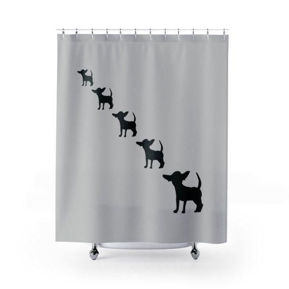 Chihuahua Shower Curtain Chihuahua Bath Decor Bathroom Set Dogs