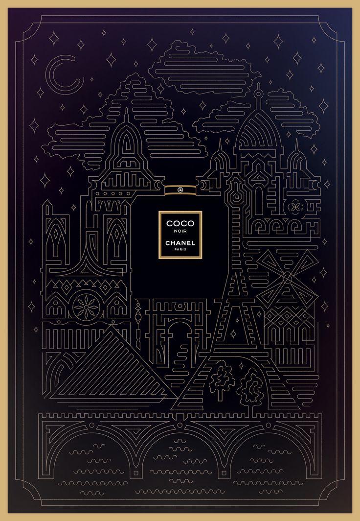 Chanel Noir-Chanel Noir : l'illustration de Valentina Badeanu mérite un encart publicitaire !-chanel large