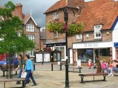 Thame Oxfordshire. Market and shopping with Shelagh and Alan.