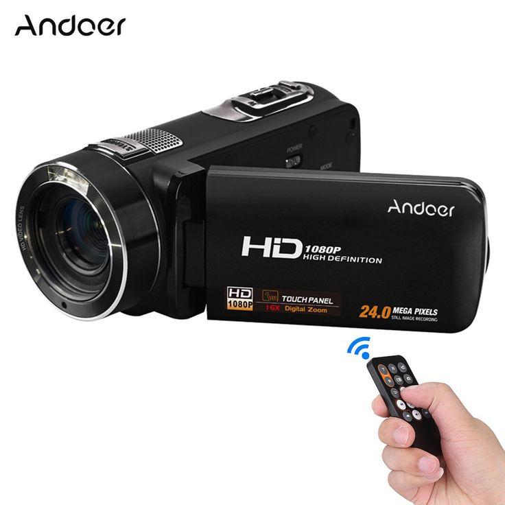 Andoer HDV-Z8 1080P Full HD Digital Video Camera Camcorder 16× black - Tomtop.com