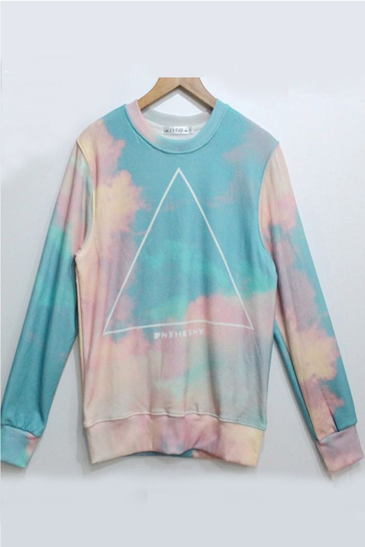 Psychedelic in the sky pastel colors sweater looks for Pastel colored men s t shirts