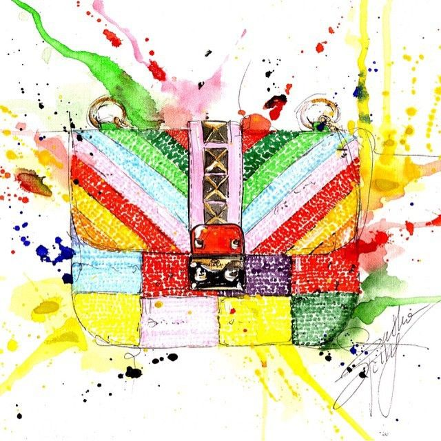 A splash of color by @sashaspringillustration #lockbag #1973Collection