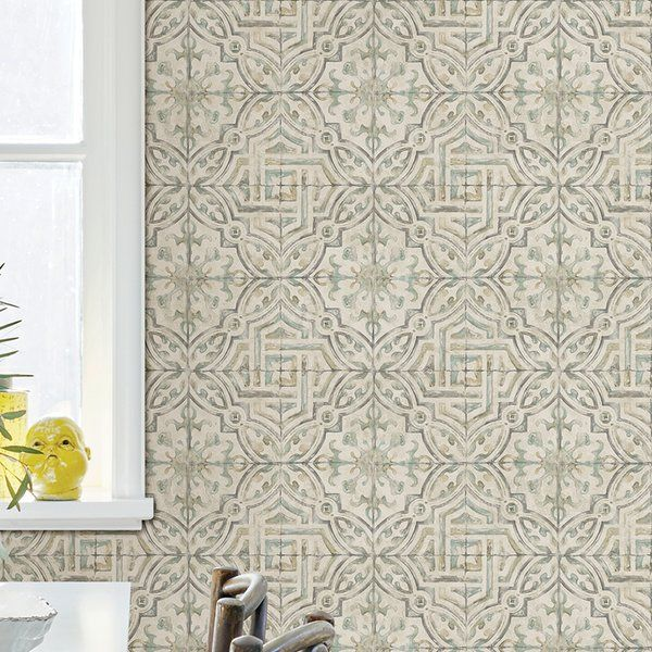 You Ll Love The Jovanny Spanish Tile 33 L X 20 5 W Geometric Wallpaper Roll At Birch Lane With Grea Wallpaper Roll Geometric Wallpaper Brick Wallpaper Roll