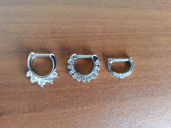 This listing is for 3 16g septum clickers. All made of 316L surgical stainless steel. A perfect addition to any septum jewelry collection. Have the