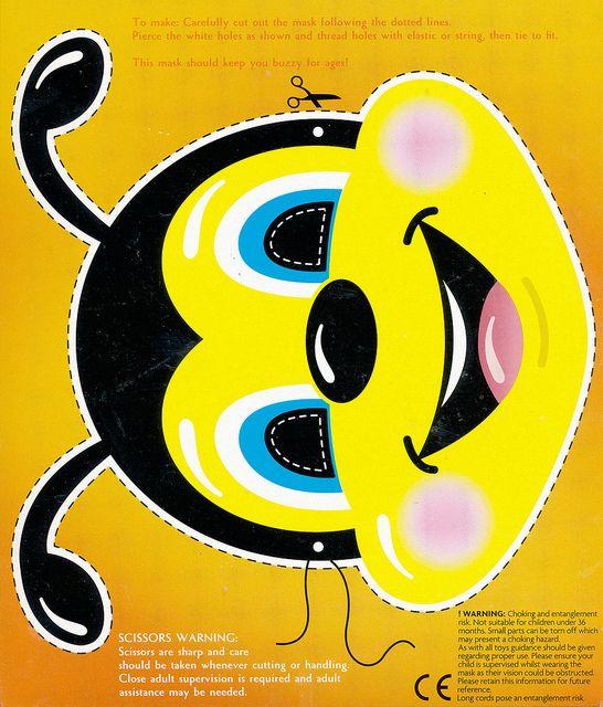 Bee Mask Template Bee mask (asda)