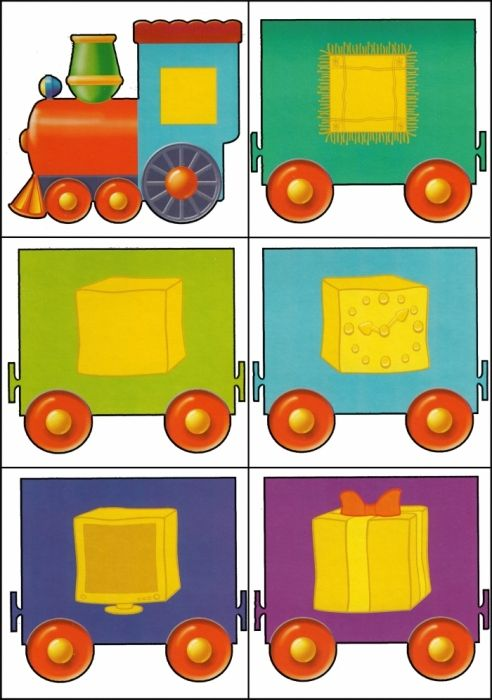* Kleuren-vormen trein! 4-12
