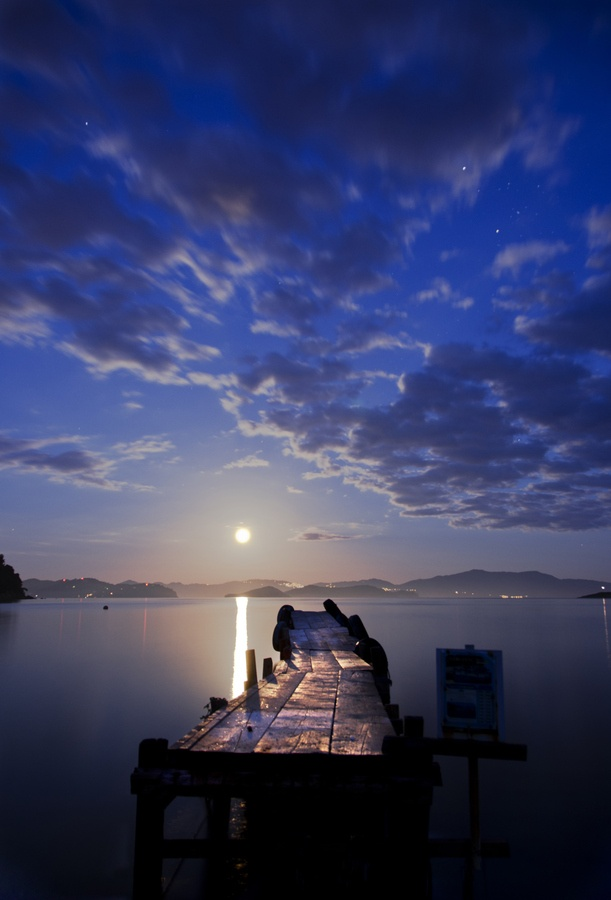 Moonlight Pier, Skiathos, Greece