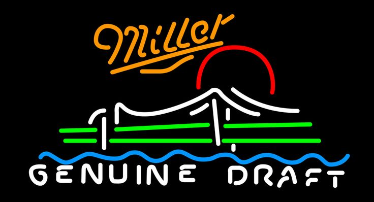 Miller MGD Shamrock Neon Beer Sign, Miller MGD Neon Beer Signs & Lights   Neon Beer Signs & Lights. Makes a great gift. High impact, eye catching, real glass tube neon sign. In stock. Ships in 5 days or less. Brand New Indoor Neon Sign. Neon Tube thickness is 9MM. All Neon Signs have 1 year warranty and 0% breakage guarantee.