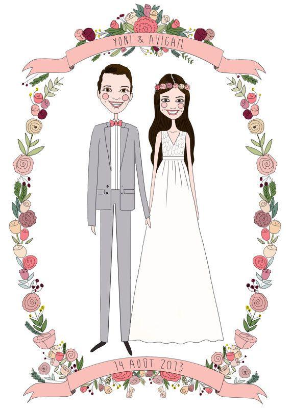 Custom wedding Portrait portraitureCustom couple by diarysketches, $100.00