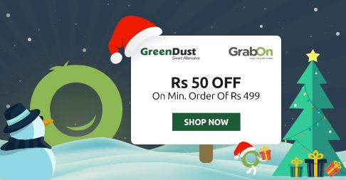 Special Offer From #GreenDust.  Flat Rs 50 Off On Rs 499. http://www.grabon.in/greendust-coupons/
