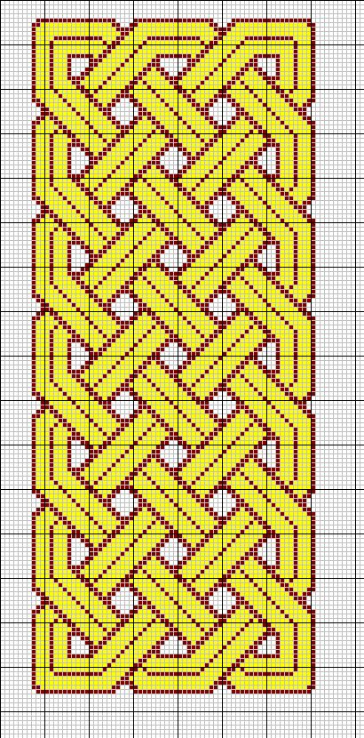 Celtic knot cross-stitch pattern
