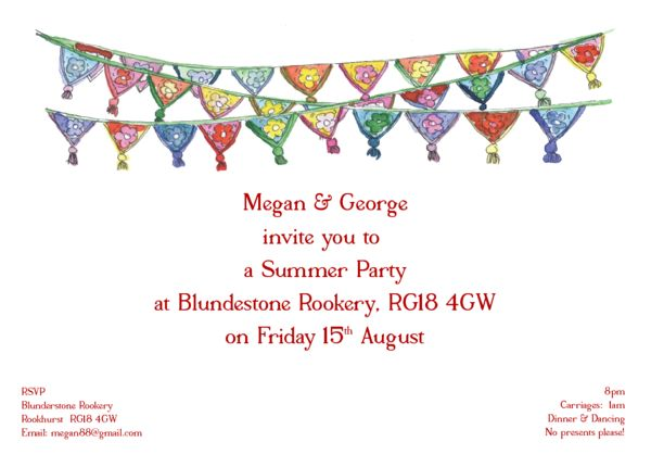 Personalised Party Invitations - thisisnessie.com