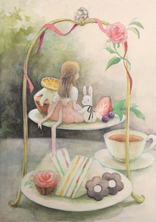 "Eriko Kurita (In the Pocket), ""たお茶会"" (""The Tea Party""). Adorable. Just adorable."