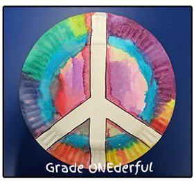 Grade ONEderful: Peace Plate Craft Remembrance Day