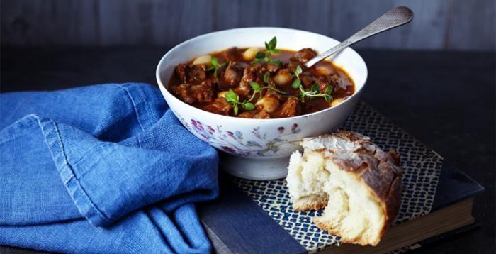 Qué mejor para combatir el frío que una buena sopa con carne #gastronomía