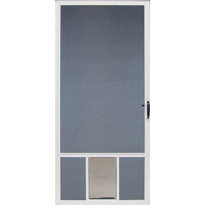 Comfort Bilt Pet Breeze 32 In X 81 In White Aluminum Frame Hinged Pet Door Screen Door Lowes Com In 2020 Screen Door Patio Screen Door Pet Door