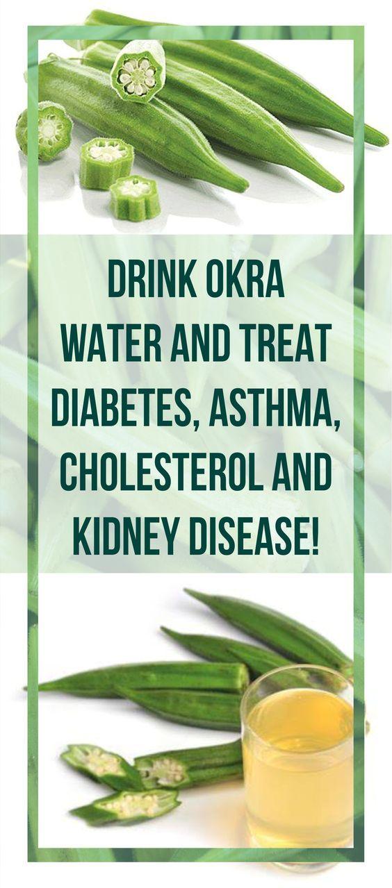 Drink Okra Water And Treat Diabetes, Asthma, Cholesterol And Kidney Disease! #okra #water #diabetes #asthma #cholesterol #kidney #disease