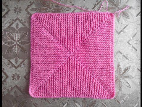 Вязание крючком квадрата от угла - Knitting square angle crochet - YouTube