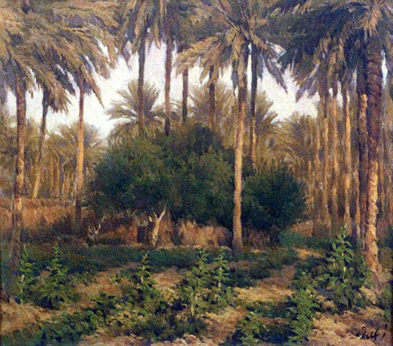 raad al adham - grove , Afternoon - IQ L - oil - 2000 .
