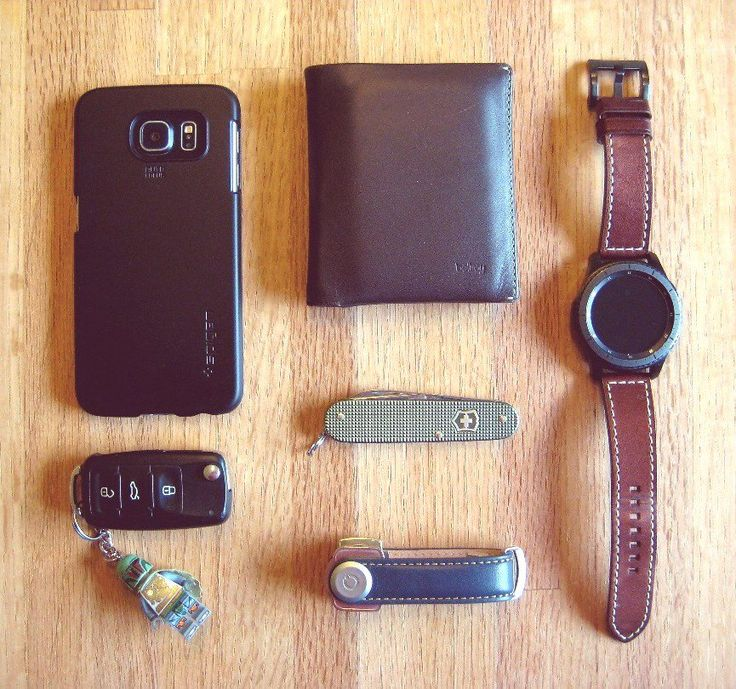 My Everyday Carry  submitted by Stefan  Bellroy Note Sleeve Wallet  Samsung Gear S3 Frontier  Orbitkey  Victorinox Cadet Alox  Spigen Thin Fit Galaxy S6 Case  Lego Boba Fett Keychain