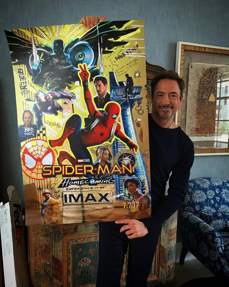 "Robert Downey Jr promoting ""Spider-Man: Homecoming"" for his pal Tom Holland."