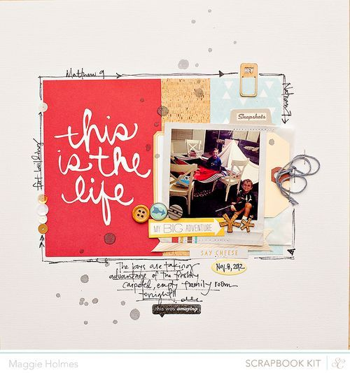 layout by #maggieholmes using #studiocalico #monthlyscrapbookkit