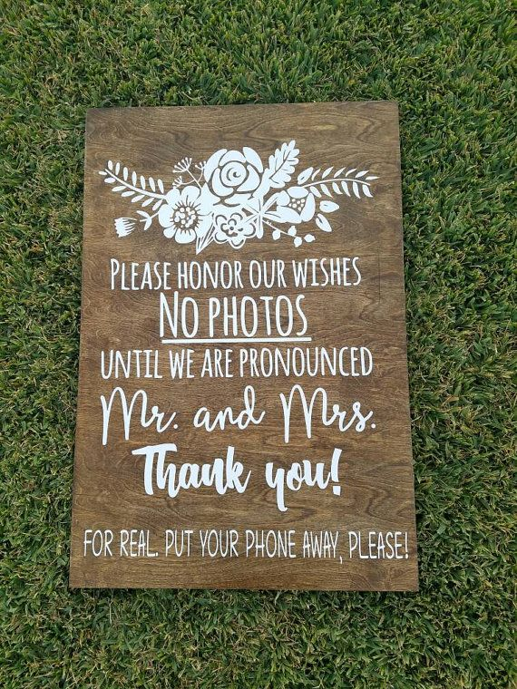 Unplugged Wedding Sign wooden sign by MCSouthernCreations on Etsy