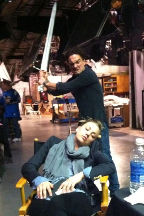"""@Kaley Cuoco Lover Tweets - """"It's comforting to know when I fall asleep on set, I'm well taken care of""""  big bang theory    LOL!!"""