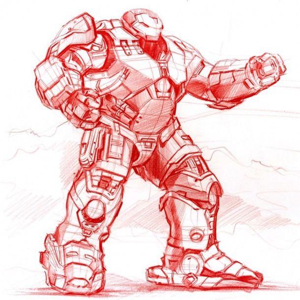 Ironman Hulkbuster Sketch On Behance Iron Man Hulkbuster Man Sketch Children Sketch