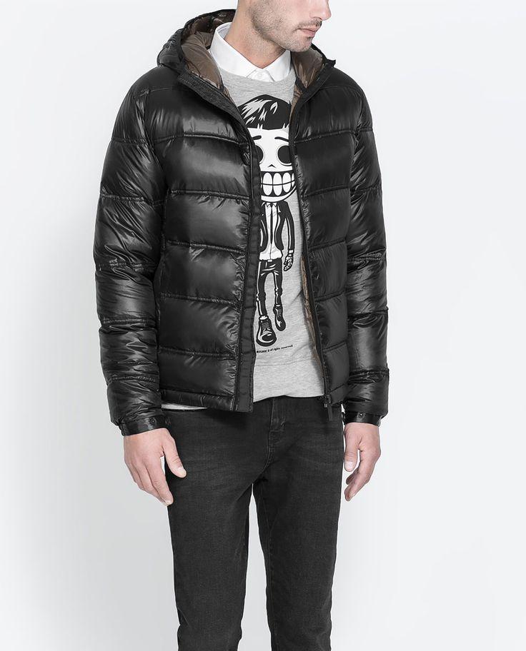 Zara Man Quilted Jacket J Pinterest Coats Zara